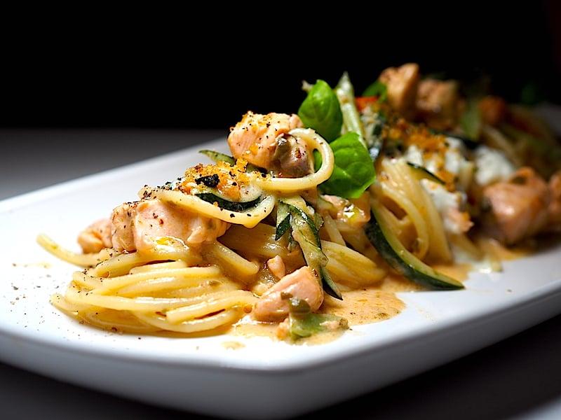 Deniz ürünlü spaghetti makarna