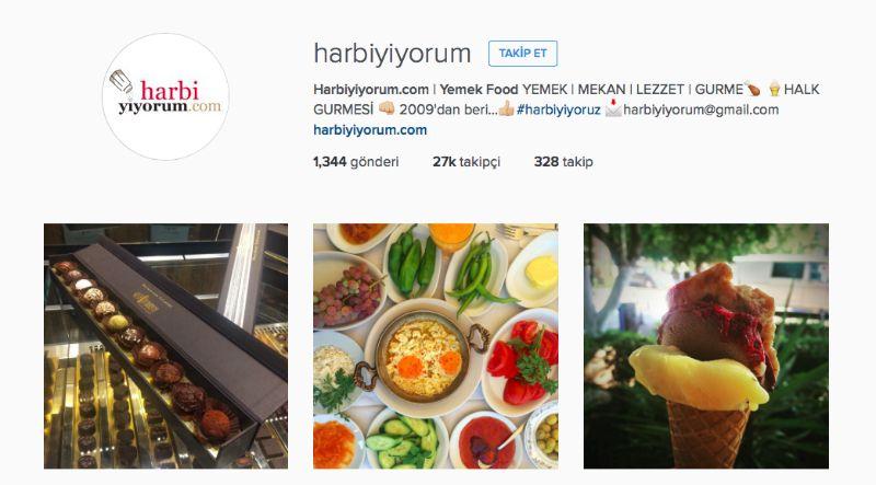Harbiyiyoru Instagram Hesabı 2015