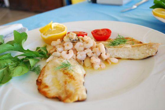 Levrek Fileto, Karidesli Tereyağlı, Le Cafe Restaurant, Bodrum