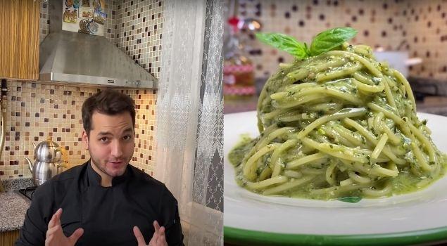 Pesto Soslu Spagetti