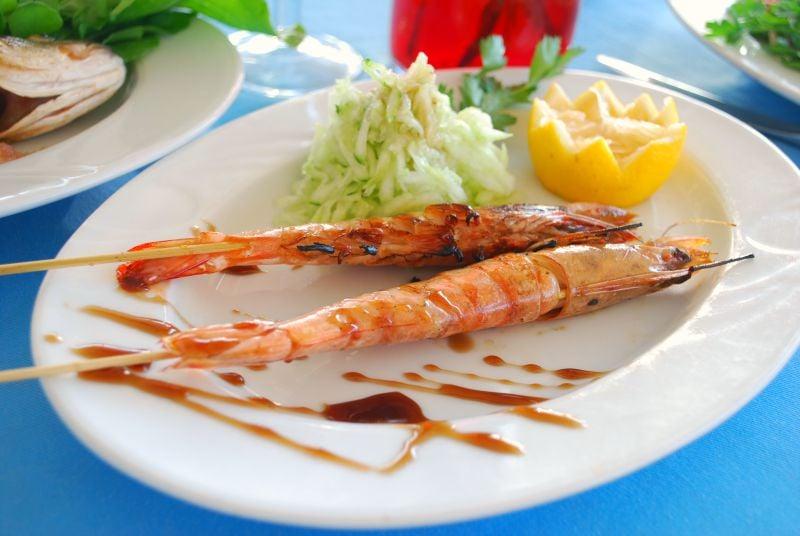 Izgara Karides, Le Cafe Restaurant, Yalıkavak, Bodrum