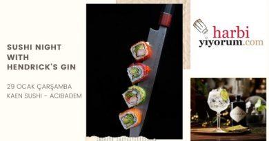 sushi night with hendrick's gin
